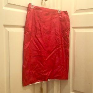 Dresses & Skirts - Red leather like skirt